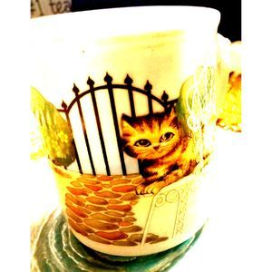 Vintage Kitchen - Kitty CAT COFFEE Mug~CUP!¡!!